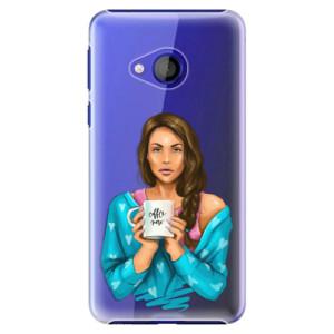 Plastové pouzdro iSaprio Coffee Now Brunetka na mobil HTC U Play