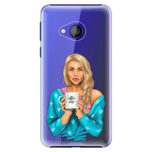 Plastové pouzdro iSaprio Coffee Now Blondýna na mobil HTC U Play