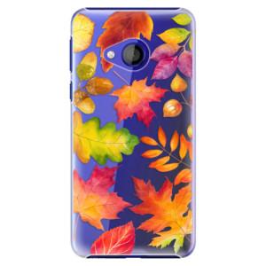 Plastové pouzdro iSaprio Podzimní Lístečky na mobil HTC U Play