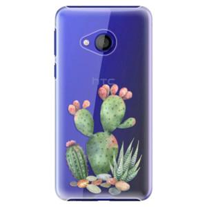 Plastové pouzdro iSaprio Kaktusy 01 na mobil HTC U Play