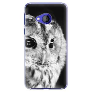 Plastové pouzdro iSaprio BW Sova na mobil HTC U Play