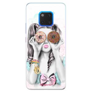 Silikonové pouzdro iSaprio (mléčně zakalené) Donutky Očiska 10 na mobil Huawei Mate 20 Pro