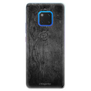 Silikonové pouzdro iSaprio (mléčně zakalené) Black Wood 13 na mobil Huawei Mate 20 Pro