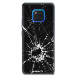 Silikonové pouzdro iSaprio (mléčně zakalené) Broken Glass 10 na mobil Huawei Mate 20 Pro