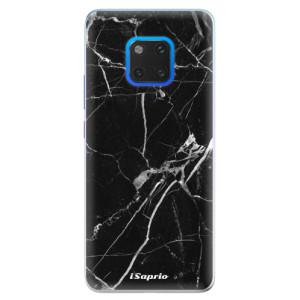 Silikonové pouzdro iSaprio (mléčně zakalené) Black Marble 18 na mobil Huawei Mate 20 Pro
