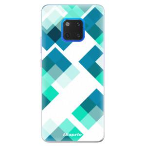 Silikonové pouzdro iSaprio (mléčně zakalené) Abstract Squares 11 na mobil Huawei Mate 20 Pro