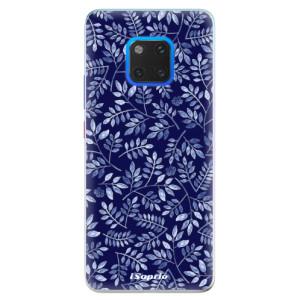 Silikonové pouzdro iSaprio (mléčně zakalené) Blue Leaves 05 na mobil Huawei Mate 20 Pro