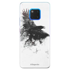 Silikonové pouzdro iSaprio (mléčně zakalené) Havran 01 na mobil Huawei Mate 20 Pro
