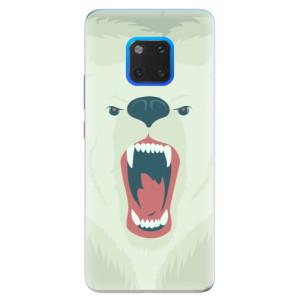 Silikonové pouzdro iSaprio (mléčně zakalené) Naštvanej Medvěd na mobil Huawei Mate 20 Pro
