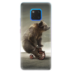 Silikonové pouzdro iSaprio (mléčně zakalené) Medvěd 01 na mobil Huawei Mate 20 Pro
