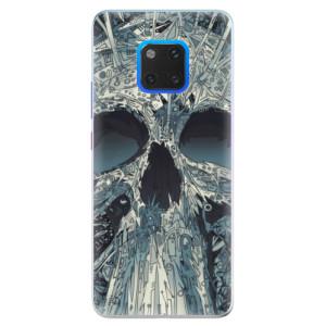 Silikonové pouzdro iSaprio (mléčně zakalené) Abstract Skull na mobil Huawei Mate 20 Pro
