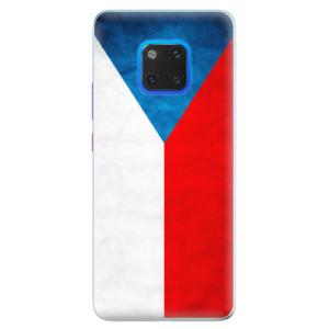 Silikonové pouzdro iSaprio (mléčně zakalené) Česká Vlajka na mobil Huawei Mate 20 Pro