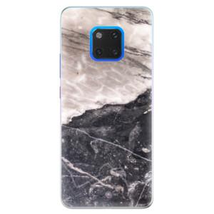 Silikonové pouzdro iSaprio (mléčně zakalené) BW Mramor na mobil Huawei Mate 20 Pro