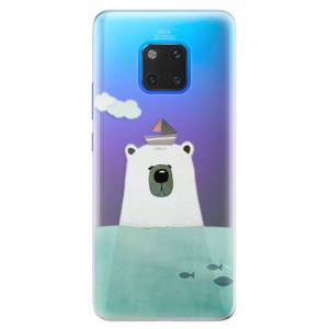Silikonové pouzdro iSaprio (mléčně zakalené) Medvěd s Lodí na mobil Huawei Mate 20 Pro