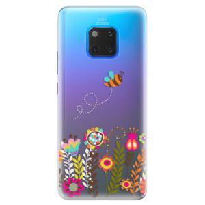 Silikonové pouzdro iSaprio (mléčně zakalené) Včelka Pája 01 na mobil Huawei Mate 20 Pro