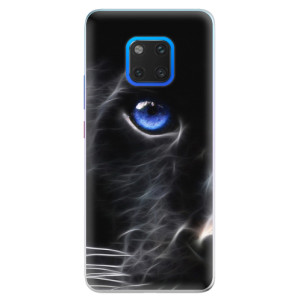 Silikonové pouzdro iSaprio (mléčně zakalené) Black Puma na mobil Huawei Mate 20 Pro