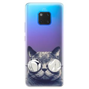 Silikonové pouzdro iSaprio (mléčně zakalené) Šílená Číča 01 na mobil Huawei Mate 20 Pro