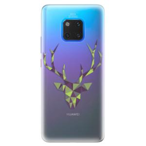 Silikonové pouzdro iSaprio (mléčně zakalené) Zelený Jelínek na mobil Huawei Mate 20 Pro