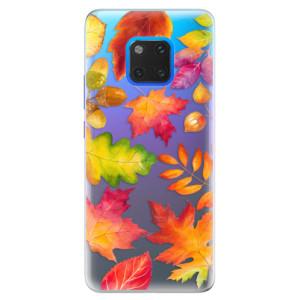 Silikonové pouzdro iSaprio (mléčně zakalené) Podzimní Lístečky na mobil Huawei Mate 20 Pro