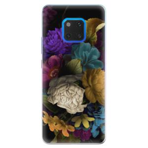 Silikonové pouzdro iSaprio (mléčně zakalené) Temné Květy na mobil Huawei Mate 20 Pro