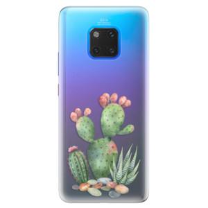 Silikonové pouzdro iSaprio (mléčně zakalené) Kaktusy 01 na mobil Huawei Mate 20 Pro