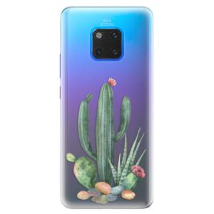 Silikonové pouzdro iSaprio (mléčně zakalené) Kaktusy 02 na mobil Huawei Mate 20 Pro