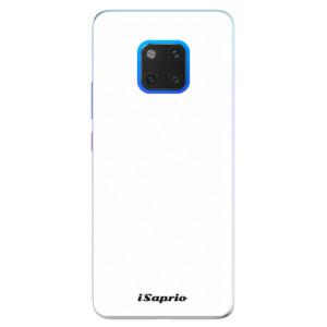 Silikonové pouzdro iSaprio 4Pure bílé na mobil Huawei Mate 20 Pro