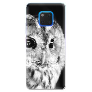 Silikonové pouzdro iSaprio (mléčně zakalené) BW Sova na mobil Huawei Mate 20 Pro