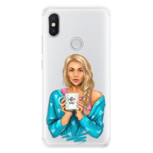 Silikonové pouzdro iSaprio (mléčně zakalené) Coffee Now Blondýna na mobil Xiaomi Redmi S2
