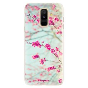 Silikonové pouzdro iSaprio (mléčně zakalené) Blossom 01 na mobil Samsung Galaxy A6 Plus
