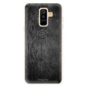 Silikonové pouzdro iSaprio (mléčně zakalené) Black Wood 13 na mobil Samsung Galaxy A6 Plus