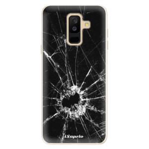 Silikonové pouzdro iSaprio (mléčně zakalené) Broken Glass 10 na mobil Samsung Galaxy A6 Plus