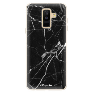 Silikonové pouzdro iSaprio (mléčně zakalené) Black Marble 18 na mobil Samsung Galaxy A6 Plus