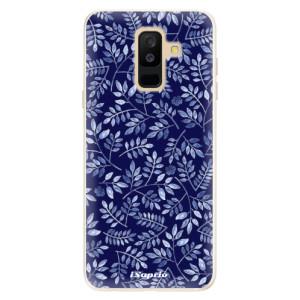 Silikonové pouzdro iSaprio (mléčně zakalené) Blue Leaves 05 na mobil Samsung Galaxy A6 Plus