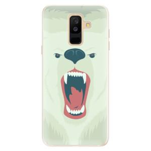 Silikonové pouzdro iSaprio (mléčně zakalené) Naštvanej Medvěd na mobil Samsung Galaxy A6 Plus