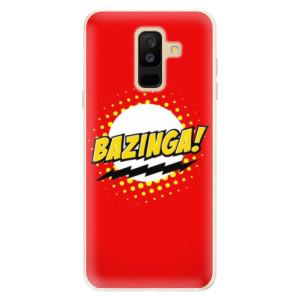 Silikonové pouzdro iSaprio (mléčně zakalené) Bazinga 01 na mobil Samsung Galaxy A6 Plus