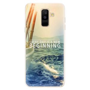 Silikonové pouzdro iSaprio (mléčně zakalené) Beginning na mobil Samsung Galaxy A6 Plus