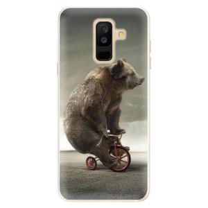 Silikonové pouzdro iSaprio (mléčně zakalené) Medvěd 01 na mobil Samsung Galaxy A6 Plus