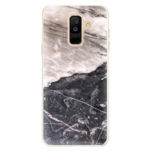 Silikonové pouzdro iSaprio (mléčně zakalené) BW Mramor na mobil Samsung Galaxy A6 Plus