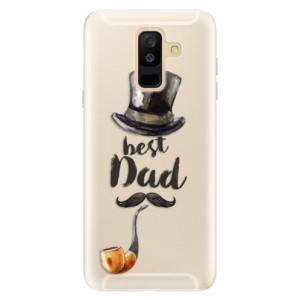 Silikonové pouzdro iSaprio (mléčně zakalené) Best Dad na mobil Samsung Galaxy A6 Plus