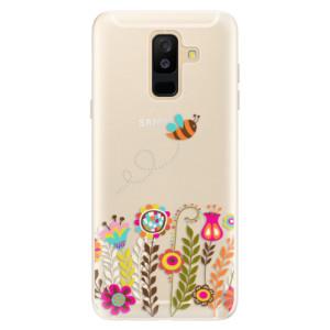 Silikonové pouzdro iSaprio (mléčně zakalené) Včelka Pája 01 na mobil Samsung Galaxy A6 Plus