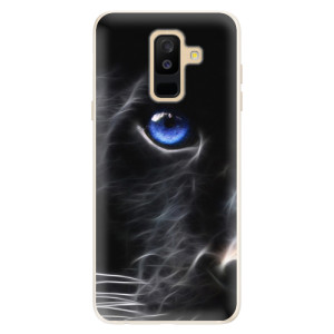 Silikonové pouzdro iSaprio (mléčně zakalené) Black Puma na mobil Samsung Galaxy A6 Plus