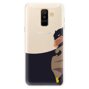 Silikonové pouzdro iSaprio (mléčně zakalené) BaT Komiks na mobil Samsung Galaxy A6 Plus