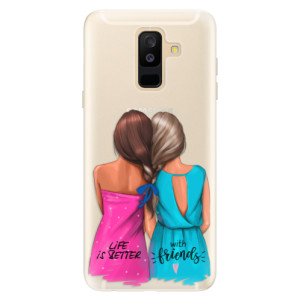 Silikonové pouzdro iSaprio (mléčně zakalené) Best Friends na mobil Samsung Galaxy A6 Plus