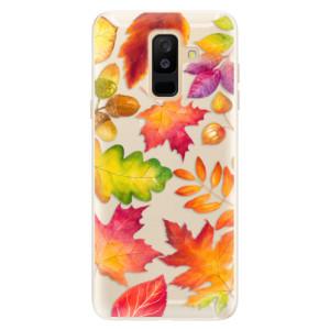 Silikonové pouzdro iSaprio (mléčně zakalené) Podzimní Lístečky na mobil Samsung Galaxy A6 Plus