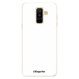 Silikonové pouzdro iSaprio 4Pure bílé na mobil Samsung Galaxy A6 Plus