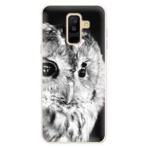 Silikonové pouzdro iSaprio (mléčně zakalené) BW Sova na mobil Samsung Galaxy A6 Plus