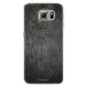 Silikonové pouzdro iSaprio (mléčně zakalené) Black Wood 13 na mobil Samsung Galaxy S6