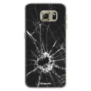 Silikonové pouzdro iSaprio (mléčně zakalené) Broken Glass 10 na mobil Samsung Galaxy S6
