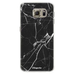 Silikonové pouzdro iSaprio (mléčně zakalené) Black Marble 18 na mobil Samsung Galaxy S6